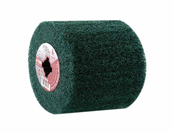 """ลูกขัดแฮร์ไลน์ 4"""" #180 (P100180)สีเขียว"""