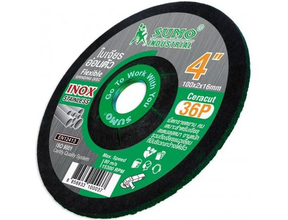 """ใบเจียรเหล็ก 4"""" (100x2mm) Ceracut36P SUMO สีเขียว"""