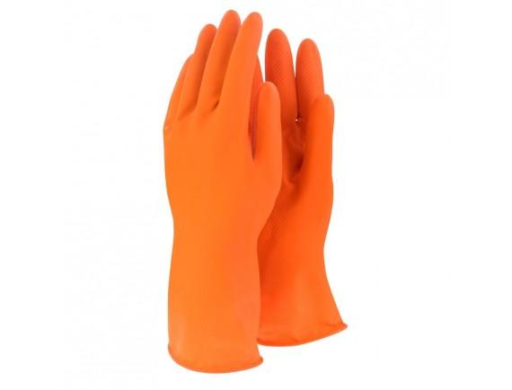 ถุงมือยางสีส้ม Size:L ยี่ห้อ MASTER