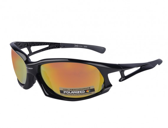 แว่นตากันแดดทรงสปอร์ต เลนส์โพลาไรซ์ปรอทเหลือง Xloop YAMADA