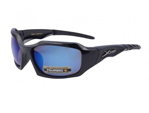 แว่นตากันแดดทรงสปอร์ต เลนส์โพราไลซ์ปรอทฟ้า Xloop YAMADA