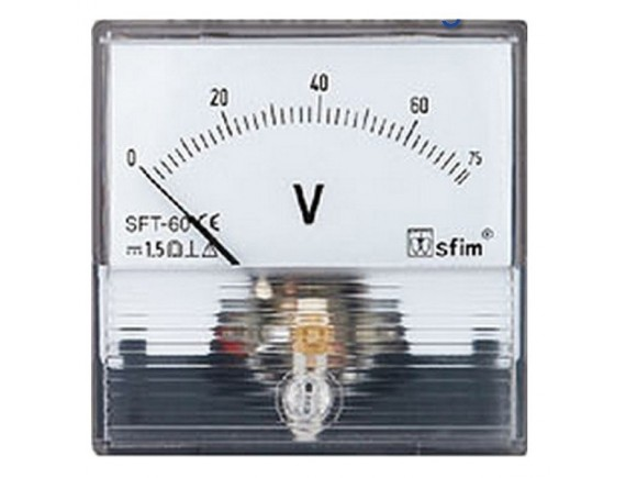 Analog DC Voltage Meter 100V