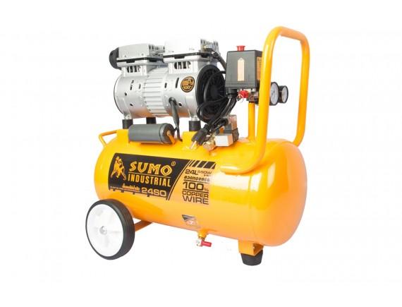 ปั๊มลมไร้น้ำมัน 3/4HP (24L) รุ่น 24SO SUMO