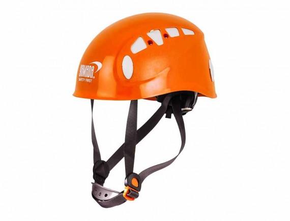 หมวกกันกระแทกสำหรับงานบนที่สูง ABS (สีส้ม)